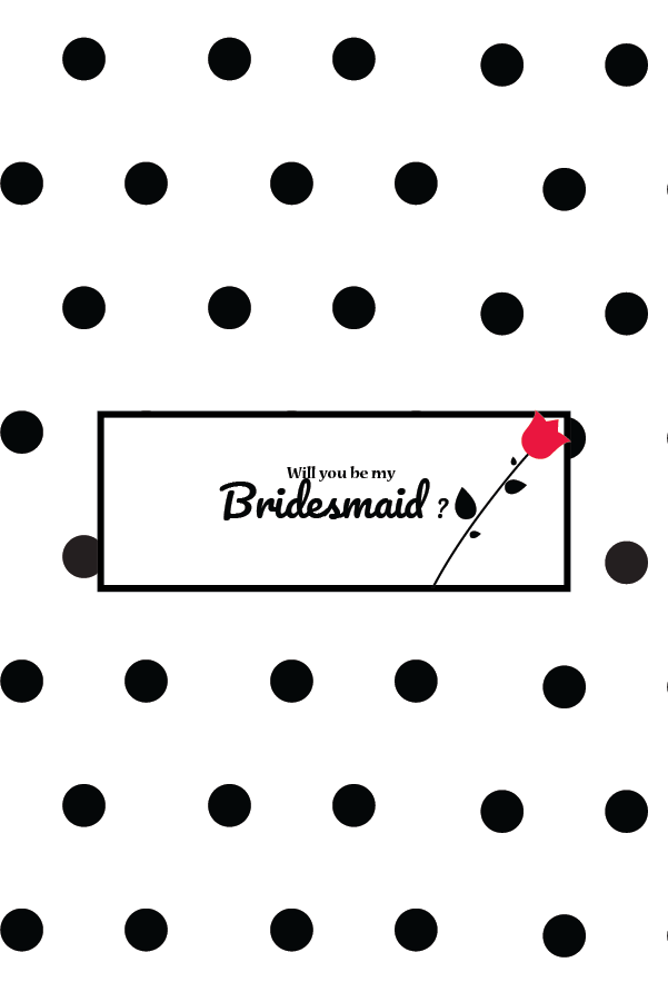 PERSONALIZE GIFT BRIDESMAID CARD