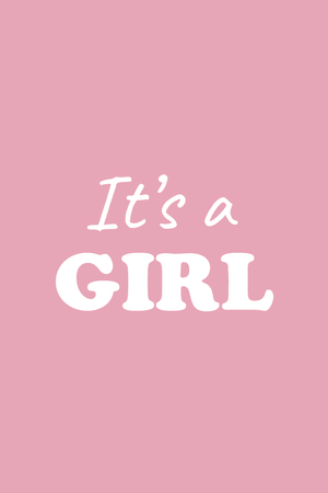 It's a girl - 2 cubes
