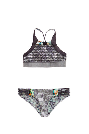 Women - Apparel - Swimwear - Bikinis Separates:Maaji:Camera Noir High Neck Top:WKND threads