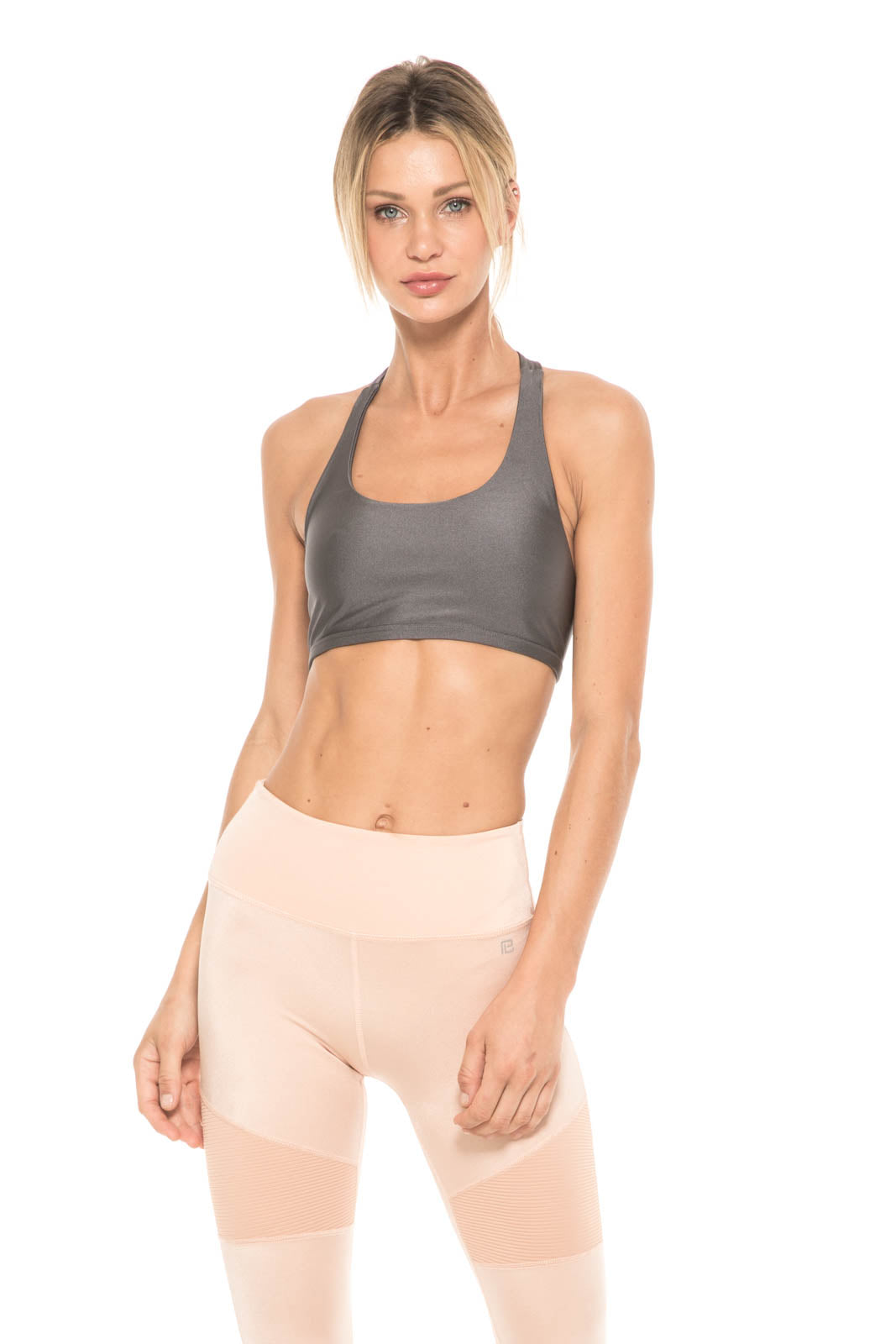 Women - Apparel - Active Wear - Tops:Body Language Sportswear:Kloss Top in Graphite:WKND threads