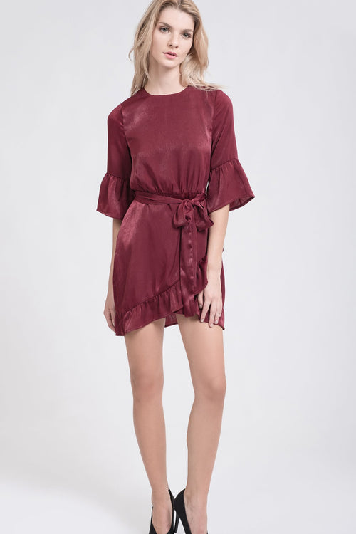 Women - Apparel - Shirts - Blouses:J.O.A.:Sienna Ruffle Dress:WKND threads