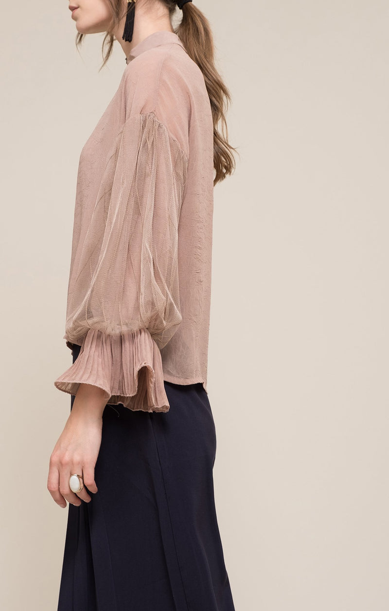 Women - Apparel - Shirts - Blouses:Moon River:Marize Puff Sleeve Top:WKND threads