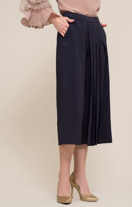 Women - Apparel - Shirts - Blouses:Moon River:Jules Pleated Wide Leg Pants:WKND threads