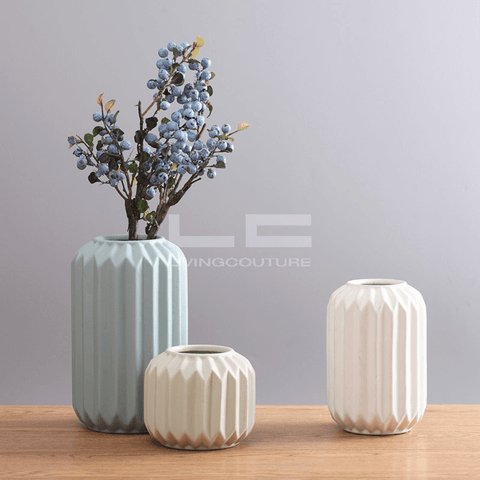Ceramic Vase Origami Cylinders Overview 01