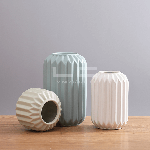 Ceramic Vase Origami Cylinders Overview 04