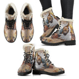 Horse Faux Fur Leather Boots Version 04