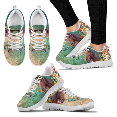 Horse In The Garden Women's Sneakers, WS1001W