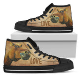 Horse Women's High Top Canvas Shoes - WS1013B