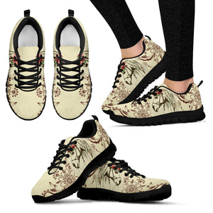 Horse And Flowers Women's Sneakers WS1008