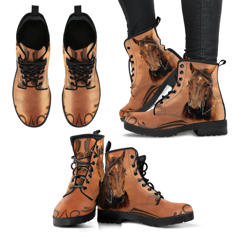Horse Theme Women's Boots - WS1009