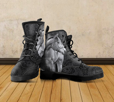 Horse Theme Women's Boots - WS1004