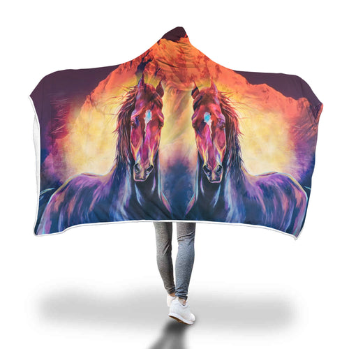 Horse Hooded Blanket