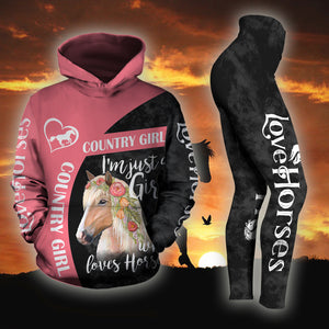 Woman Horse Hoodie And Legging Version 01
