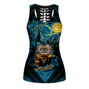 Woman HP Owl Tank Top And Legging Version 01