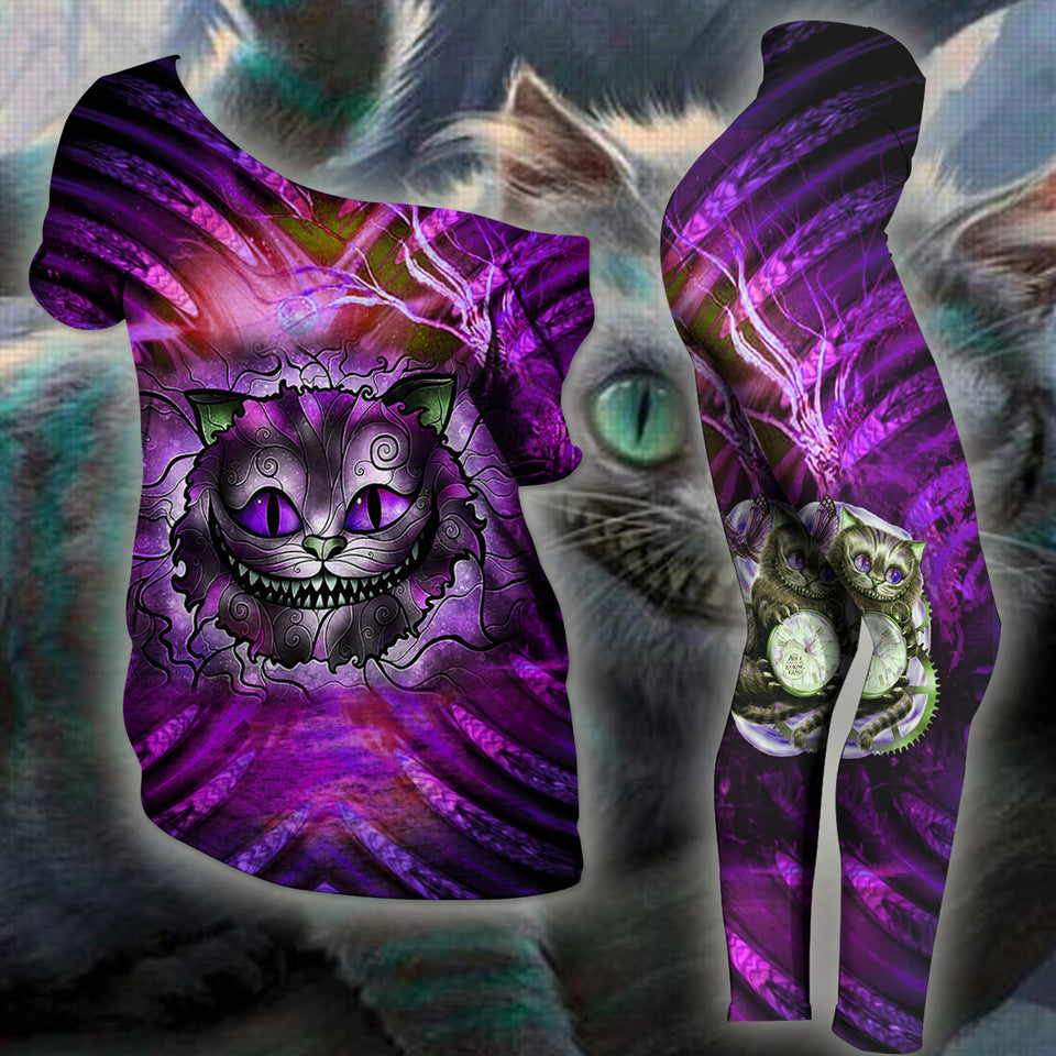 Woman Cat Slouchy Tee And Legging Version 08