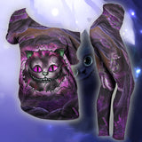 Woman Cat Slouchy Tee And Legging Version 14