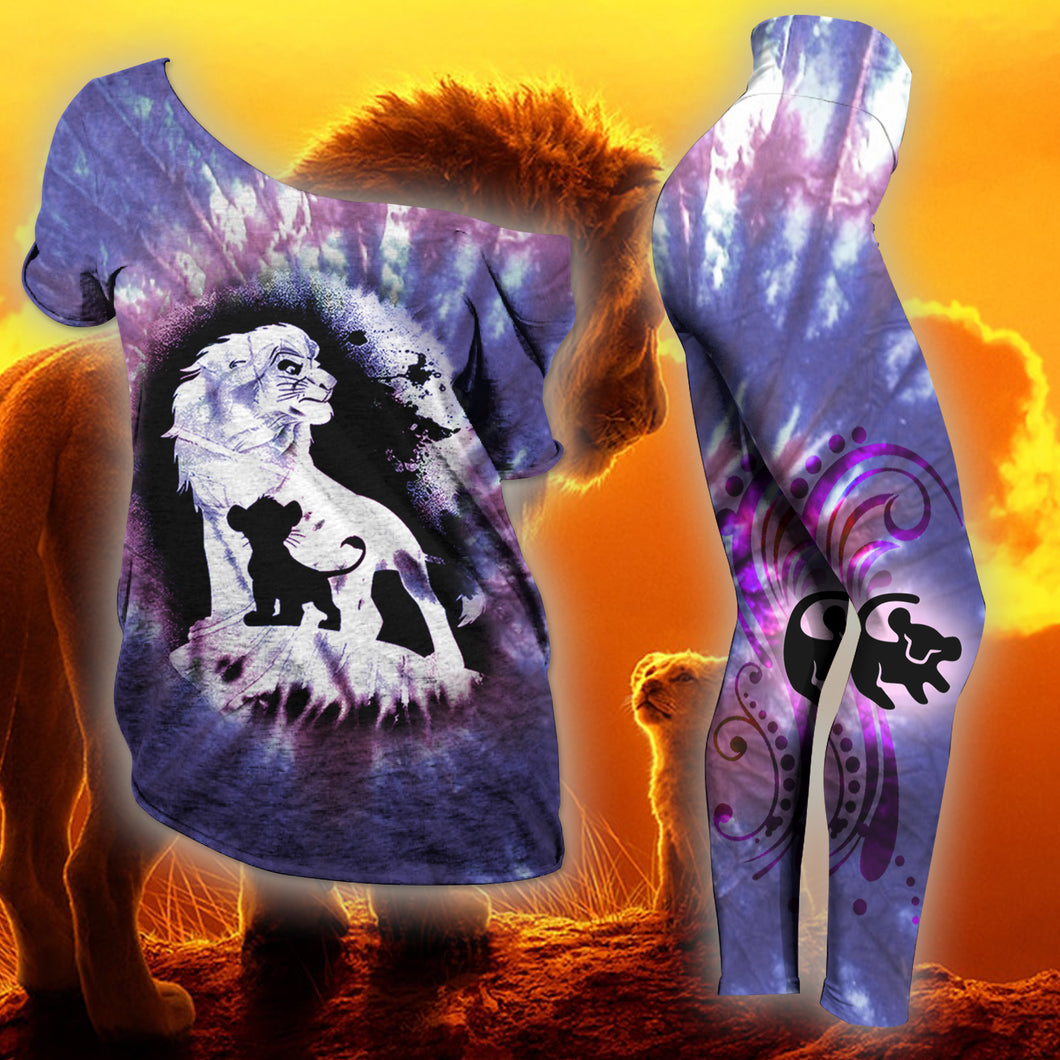 Lion King Slouchy  Tee And Legging Version 06