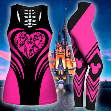 Disney Heart Tank Top And Legging Version 03