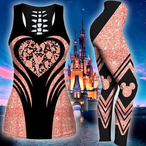 Disney Heart Tank Top And Legging Version 04