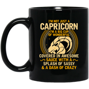 Capricorn 11 oz. Black Mug
