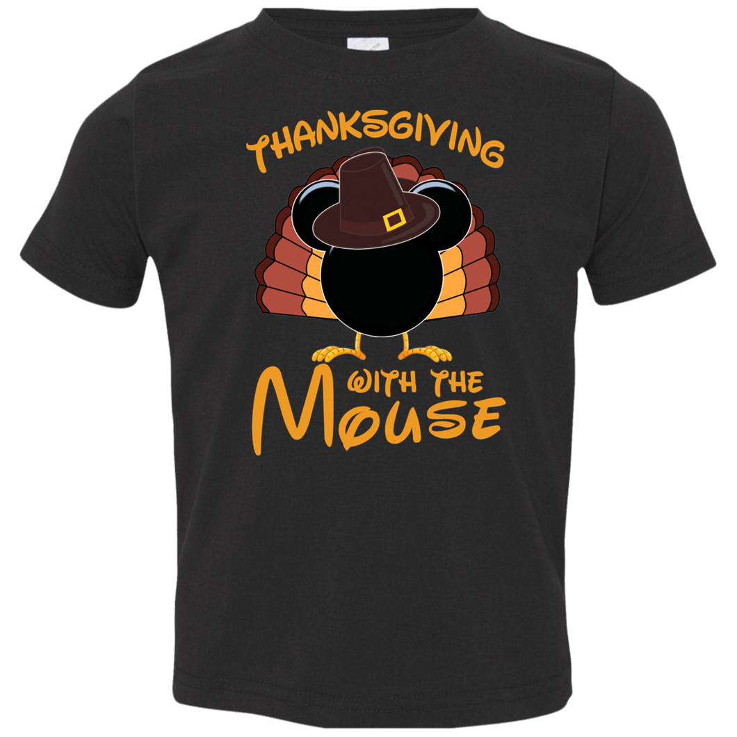 Thanksgiving with the Mouse Toddler tshirt