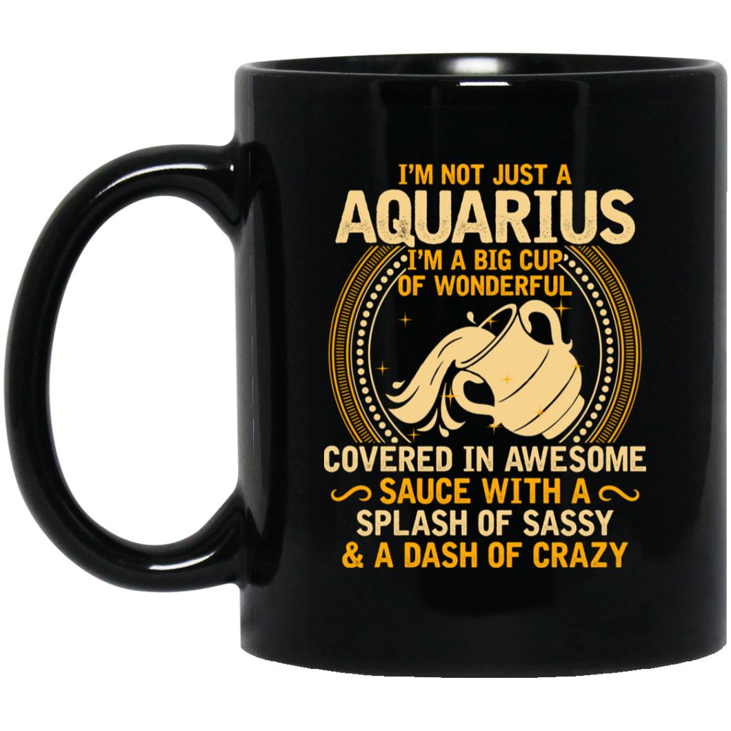 Aquarius Mug 11 oz. Black Mug