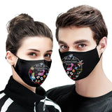 Couple Face Covers - We're All Quarantined Here