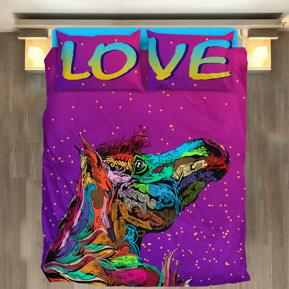 Horse Love Duvet Bedding Set - BDH001