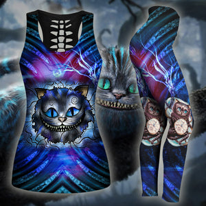 Woman Cat Tank Top And Legging Version 07