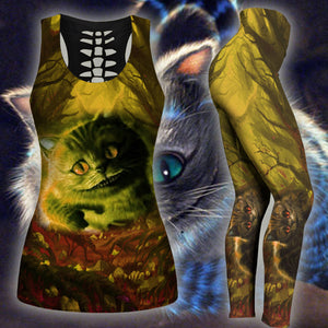 Woman Cat Tank Top And Legging Version 24