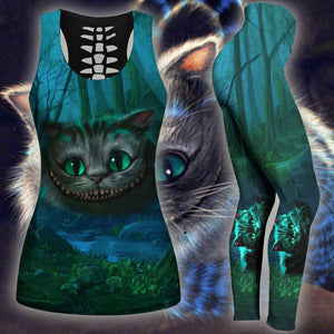 Woman Cat Tank Top And Legging Version 26