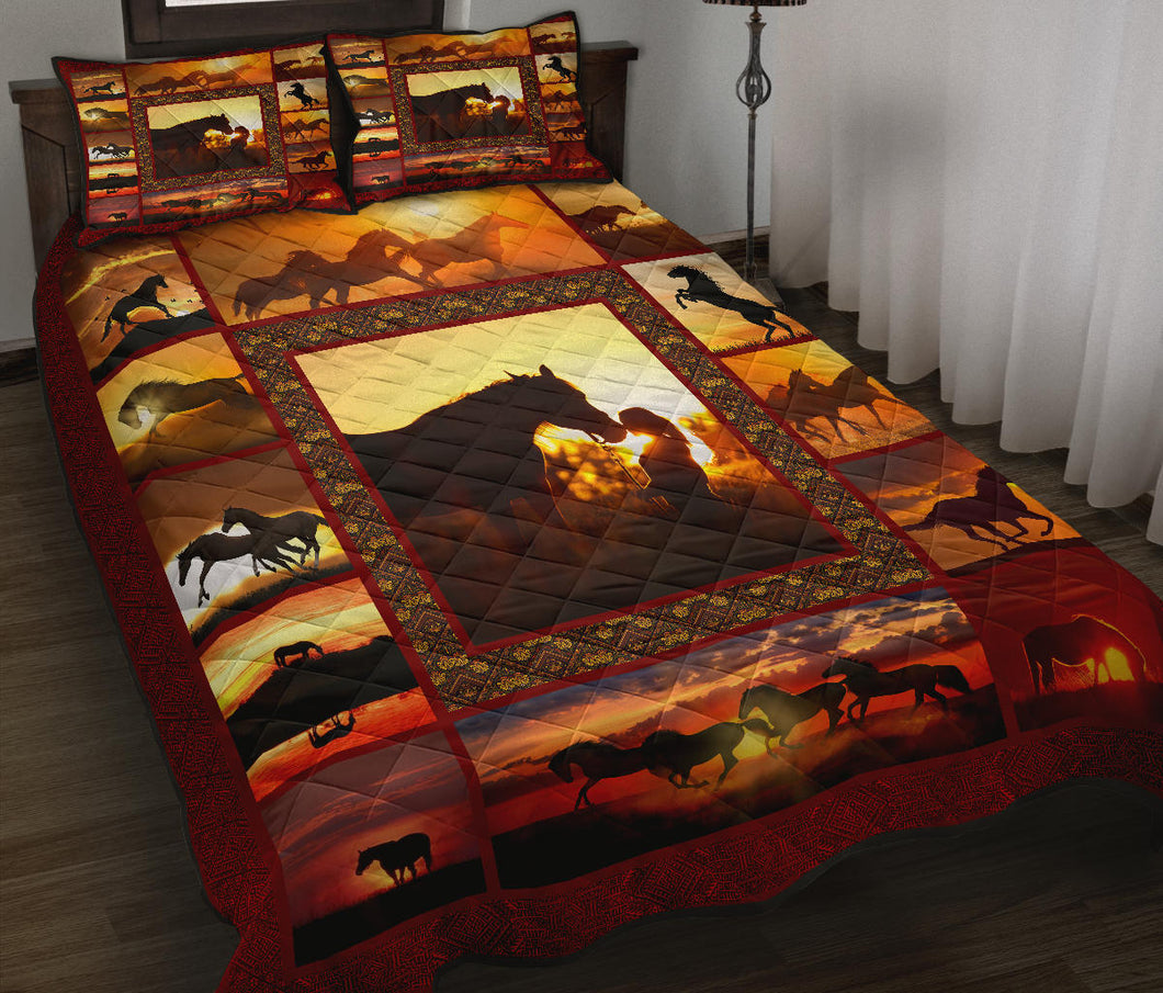 Horse Quilt Bed Set HQBS 01