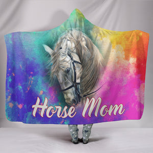 Horse Mom Hooded Blanket HB1001