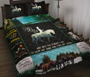 HORSE QUILT BED SET HQBS 04