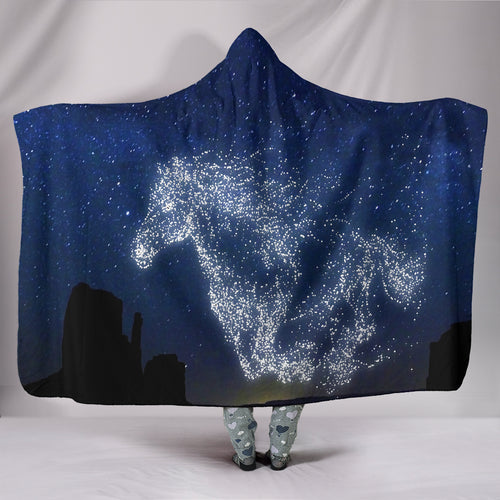 Horse Star II Hooded Blanket