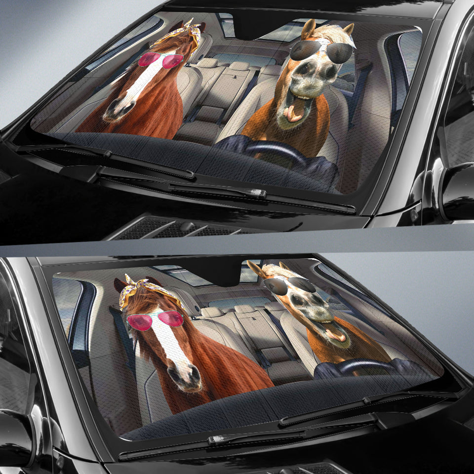 Horse Auto Sun Shades Version 01