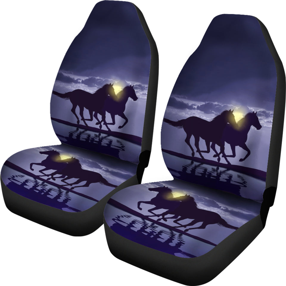 Horse - Night Car Seat Cover