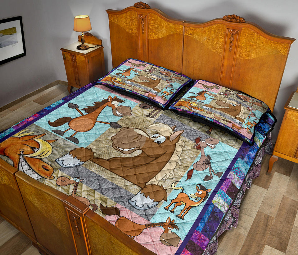 HORSE QUILT BED SET HQBS 02
