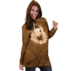 Painting Horse Hoodie Dress - HD202