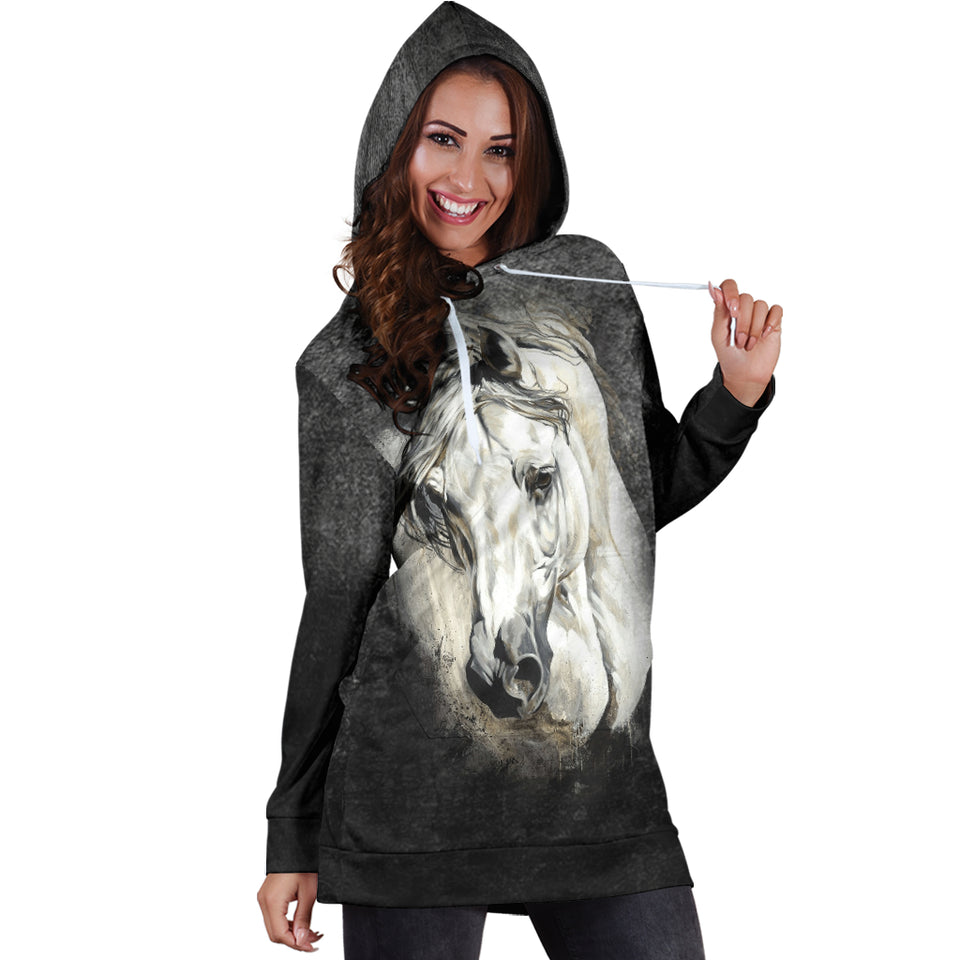 Painting Horse Hoodie Dress - HD201
