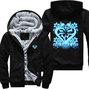 Glow In The Dark Love Horses With All Heart Chambers Jacket