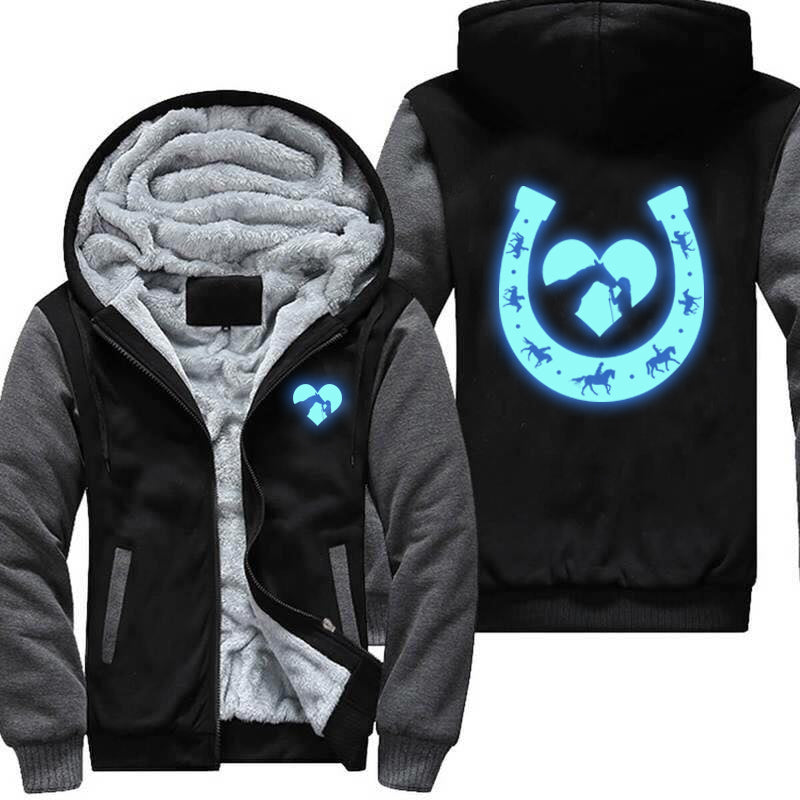 Glow In The Dark Horse Shoes Jacket
