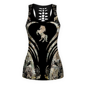 Woman Horse Tank Top And Legging Version 19