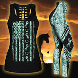 Woman Horse Tank Top And Legging Version 08