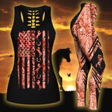 Woman Horse Tank Top And Legging Version 09