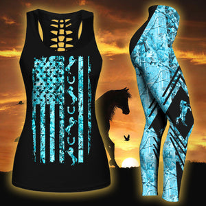 Woman Horse Tank Top And Legging Version 10