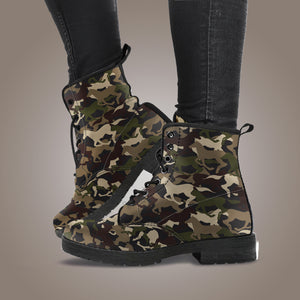Camo Horse Leather Boots