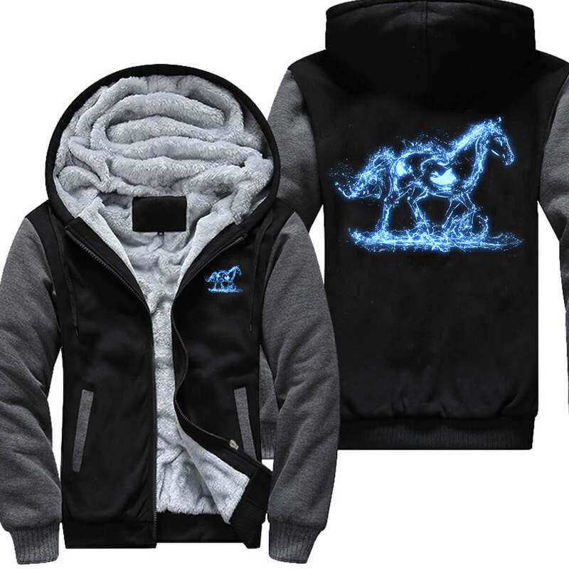 Glow In The Dark Splashing Horse Jacket