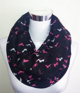 New Fashion Mini Horse Infinity Scarf Snood Running Horse Scarves For Women