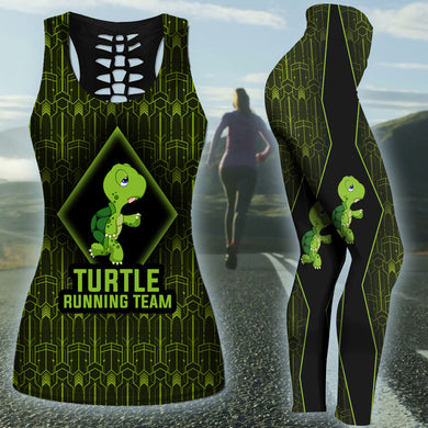 Turtle Running Team Tank Top And Legging Version 01